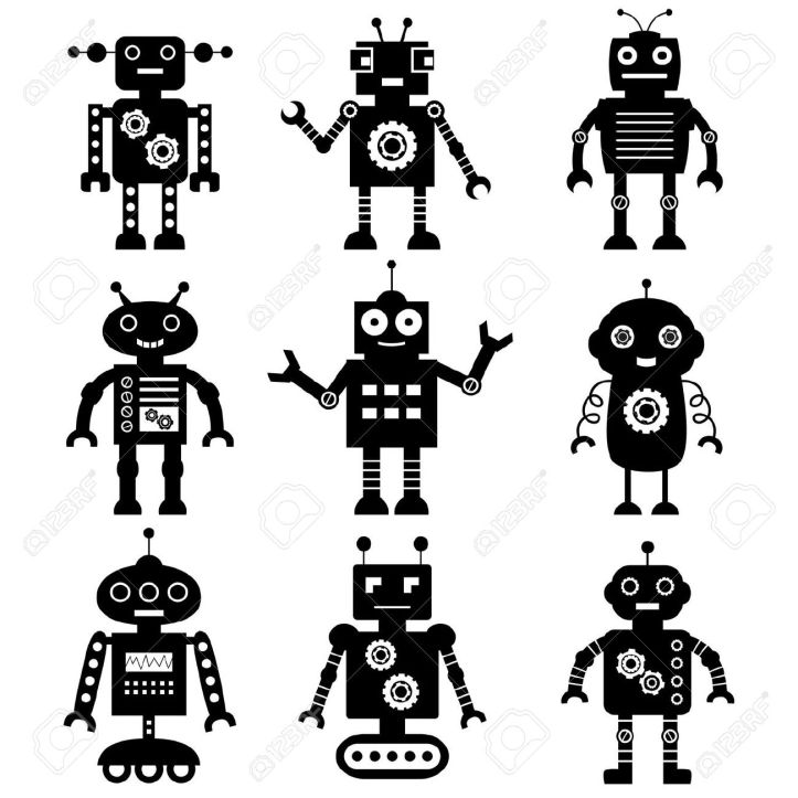 15146137-Robot-silhouettes-set-Stock-Vector-robot-icon-science.jpg